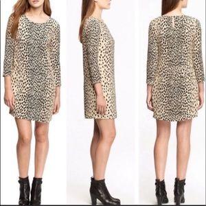 J Crew Wildcat Leopard Jules Shift Dress